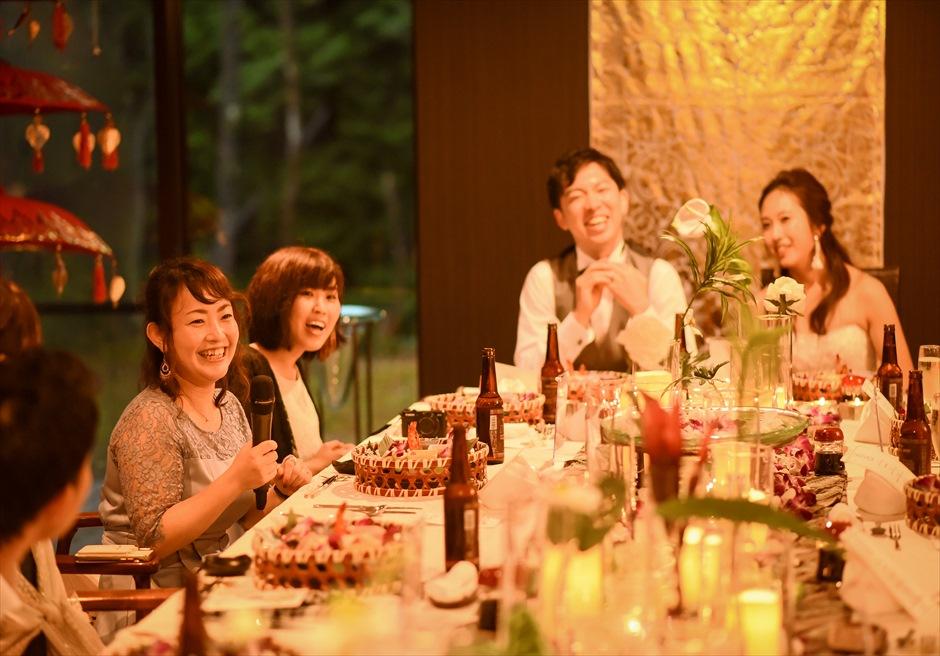 静岡レセプションパーティー バリ島ウェディング テーブルデコレーション