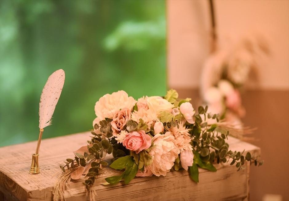 静岡結婚式 伊豆ウェディング会場装飾 アンダの森伊豆高原ウェディング会場