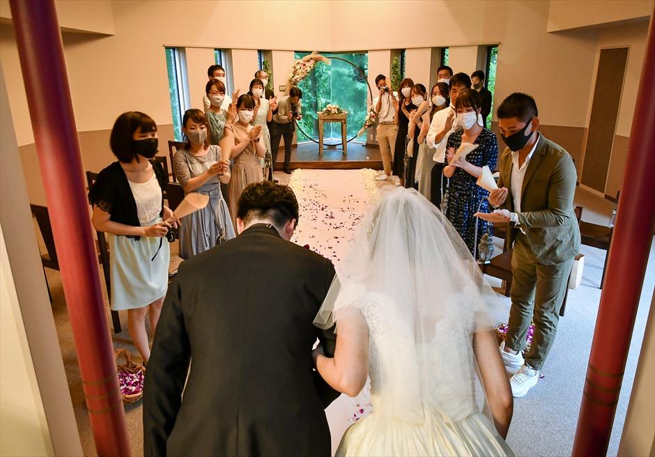 伊豆屋内ウェディング 伊豆リゾート挙式 アンダの森伊豆高原・別館