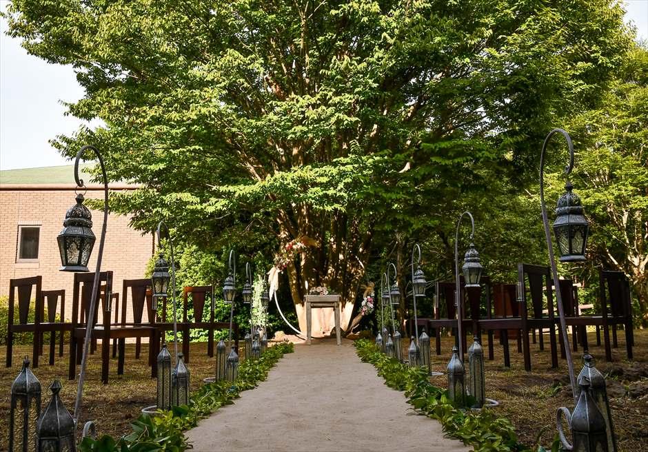 伊豆・邸宅ウェディング 静岡アウトドア挙式 ガーデンウェディング会場 アンダの森