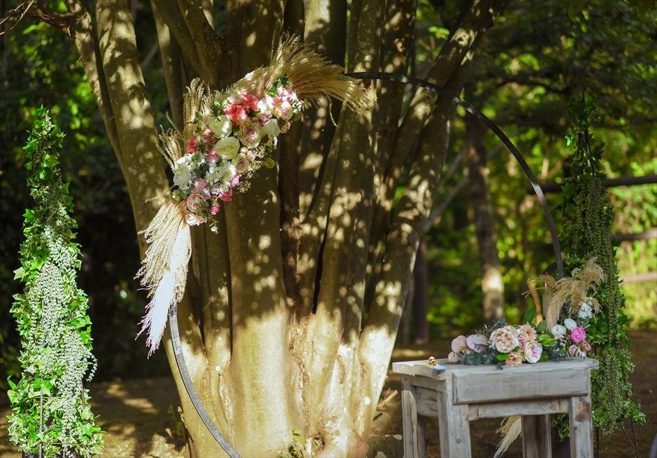 静岡結婚式 伊豆ウェディングアーチ アーチ装飾